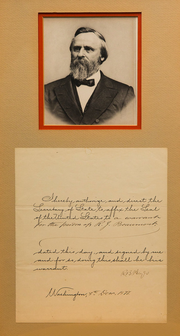 Untitled (Photograph of Rutherford B. Hayes with Autograph) by Artist Unknown