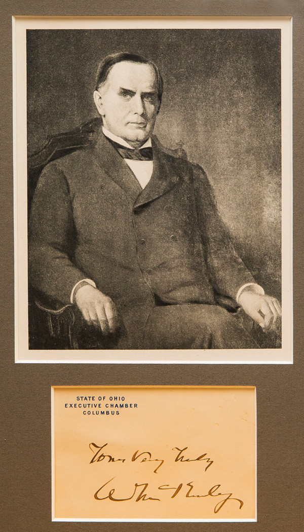 Untitled (Autograph and Lithographed Photograph of William McKinley) by Artist Unknown