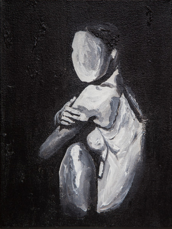 Untitled (Black and White Nude) by Kimberly Parra