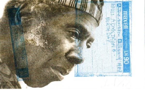 Portrait of Bob Via His Tape Collection by Paul John