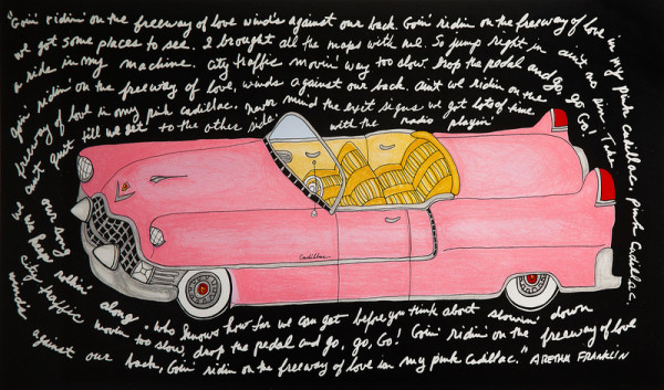 Pink Cadillac by Bette Blank