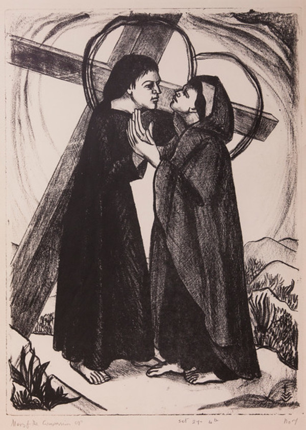 Stations of the Cross, No. IV Jesus Meets his Mother by Constance Mary Rowe also known as Sister Mary of the  Compassion, O.P.