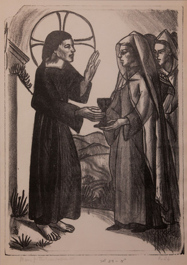Stations of the Cross, No. VIII Jesus Meets the Weeping Women by Constance Mary Rowe also known as Sister Mary of the  Compassion, O.P.