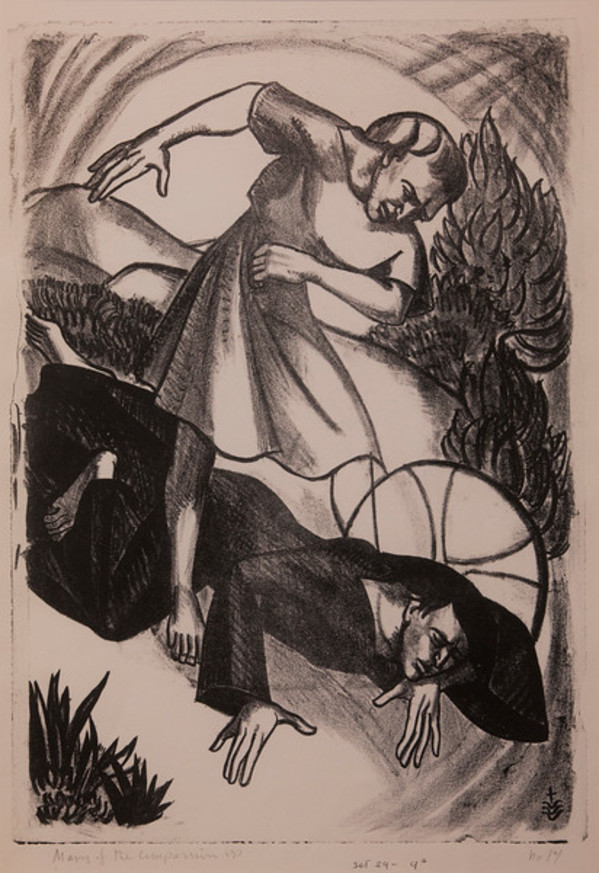 Stations of the Cross, No. IX Jesus Falls the Third Time by Constance Mary Rowe also known as Sister Mary of the  Compassion, O.P.