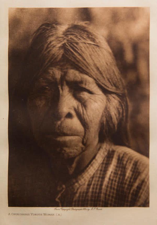A Chukchangsi Yokute Woman (A) by Edward S. Curtis