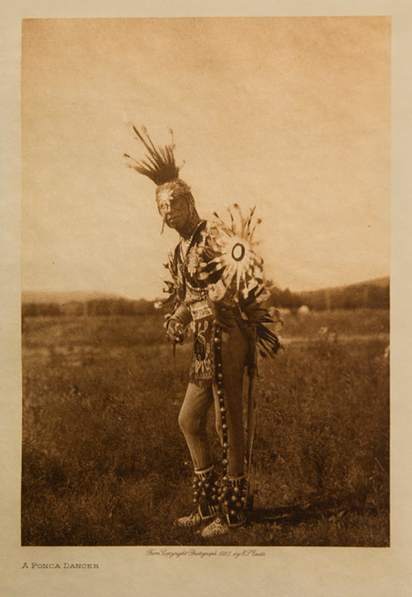 A Ponca Dancer by Edward S. Curtis