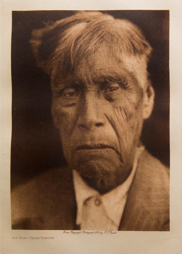 Old Bob Tachi Yokuts by Edward S. Curtis