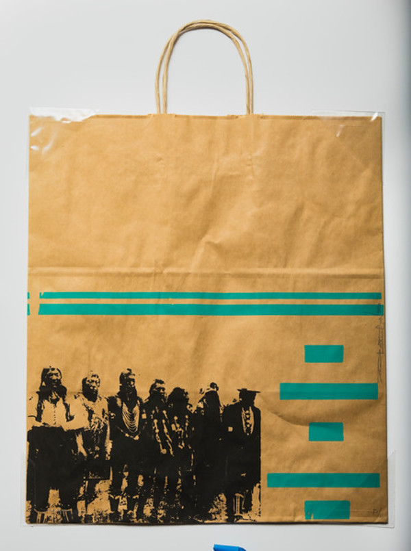 Brown Bag Screen Print by Terran Kipp Last Gun