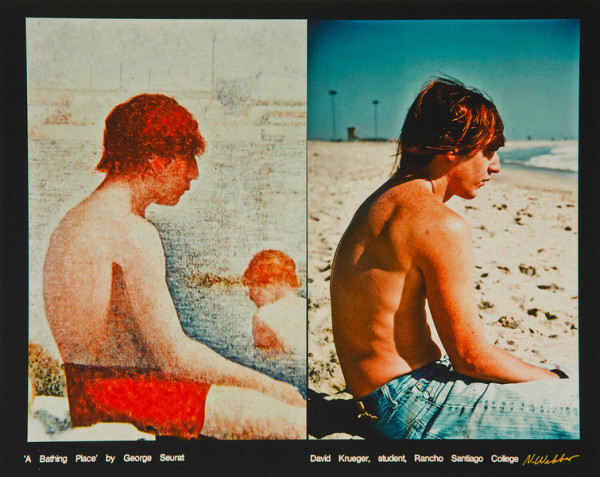 A Bathing Place by George Seurat, David Krueger, student, Rancho Santiago College by Nancy Webber