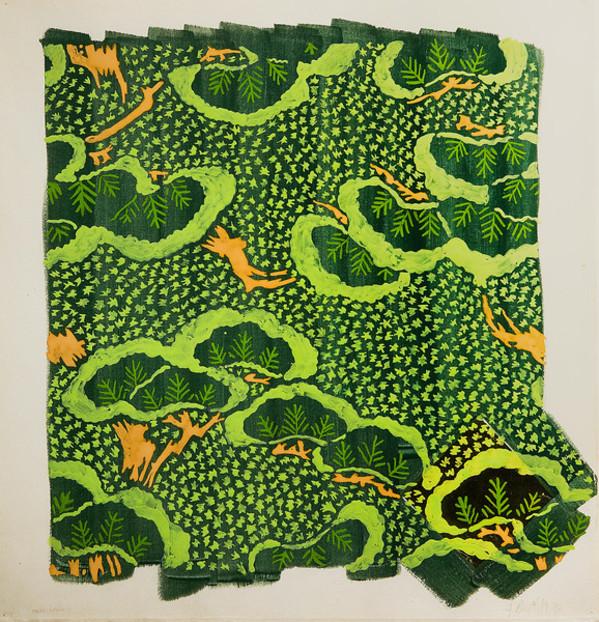 Homan-Ji Series XI: Trees and Forest by Jennifer Bartlett