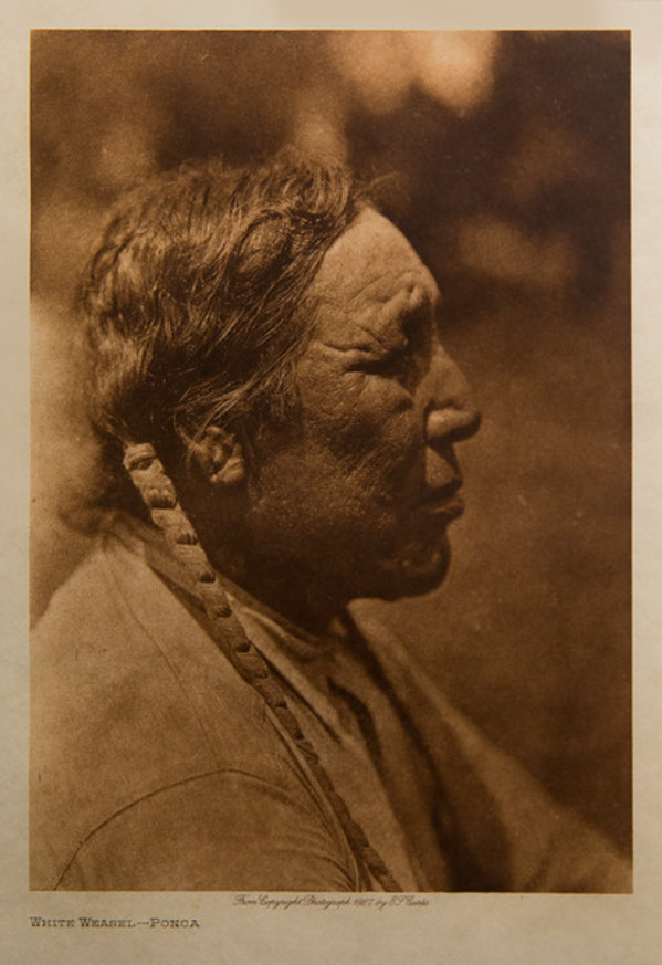 White Weasel-Ponca by Edward S. Curtis