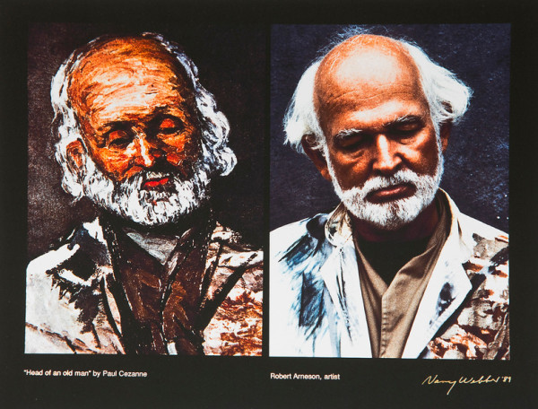 Head of an Old Man by Paul Cezanne, Robert Arneson, artist. by Nancy Webber