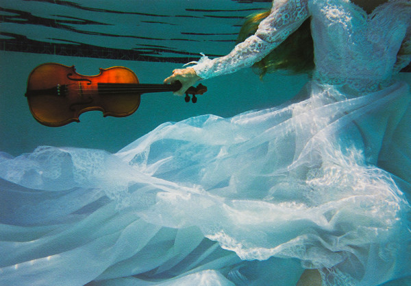From the Urban pool series Girl with Violin by Kenda North