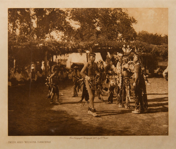 Skidi and Wichita Dancers by Edward S. Curtis