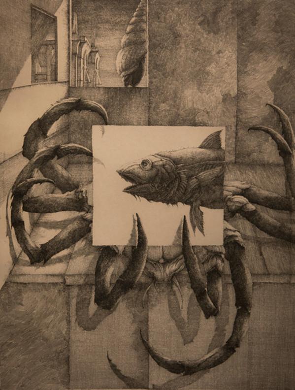 Crab & Fish by Erik Desmazieres