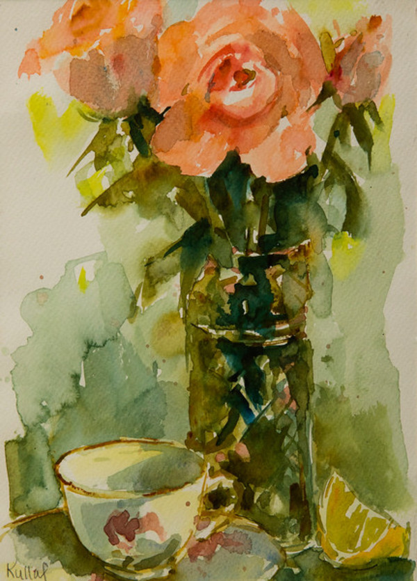 Pink Rose by Anne Kullaf