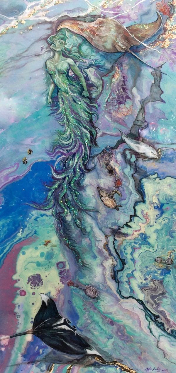 Drifting up from the Great Reef by Crystal Dombrosky
