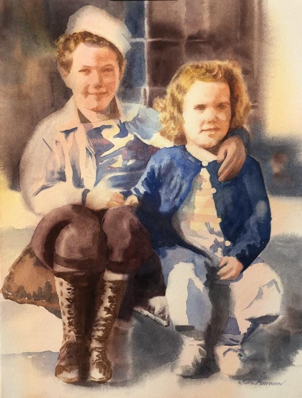 Jackie and Emilyn, 1944 by Tara Moorman
