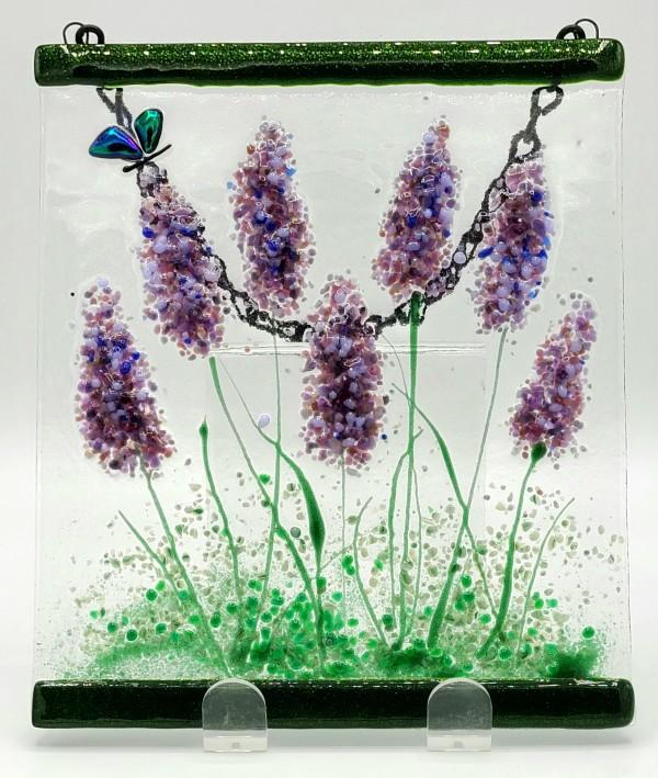 Garden Hanger-Lavender with Butterfly by Kathy Kollenburn