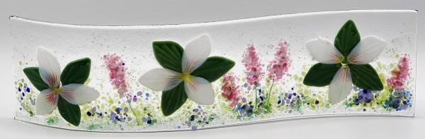 Garden Curve-Trilliums & Lavender by Kathy Kollenburn