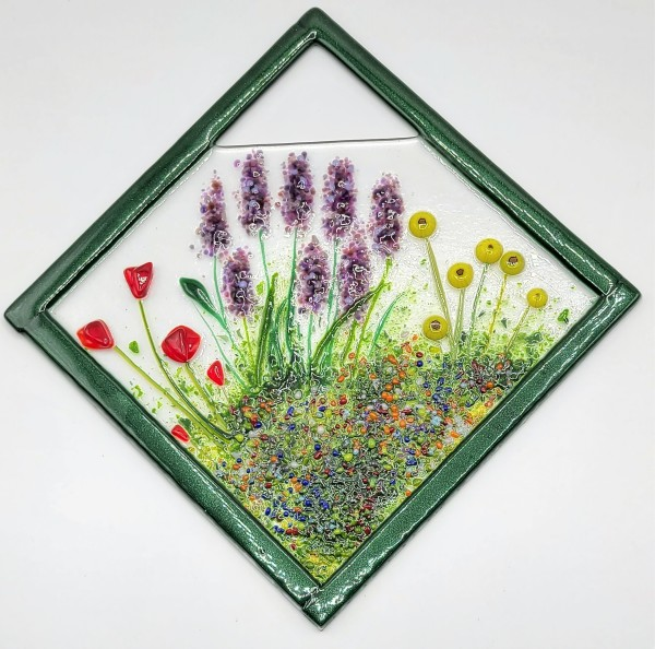 Garden Hanger-Diagonal-Poppies, Lavender & Daisies by Kathy Kollenburn
