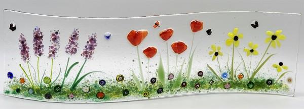 Garden Curve-Lavender, Poppies, & Daisies by Kathy Kollenburn