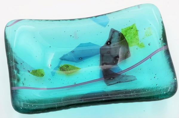 Trinket Dish-Confetti on Aquamarine by Kathy Kollenburn