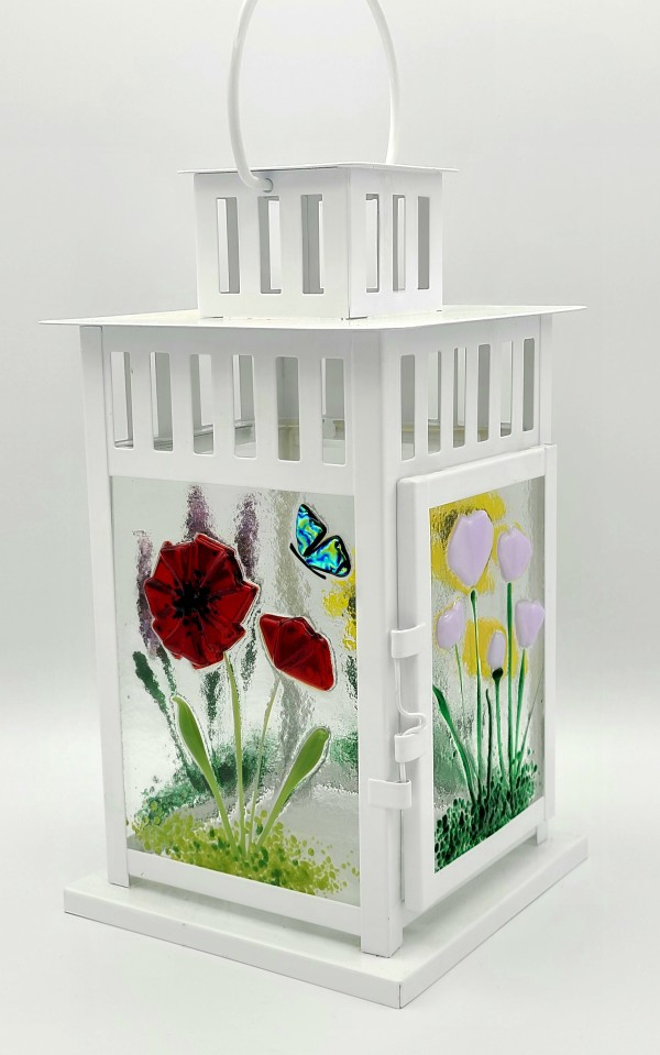 Lantern with Botanical Panels by Kathy Kollenburn
