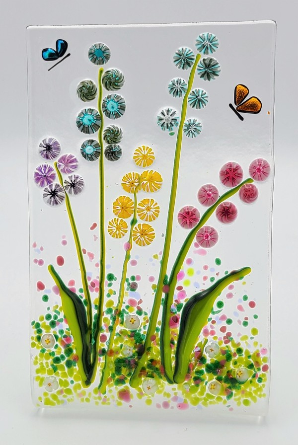 Flower Garden Stand Up with Butterflies by Kathy Kollenburn