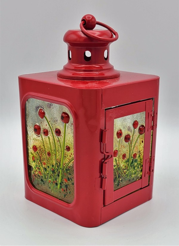 Lantern-Red with Poppy Fields by Kathy Kollenburn