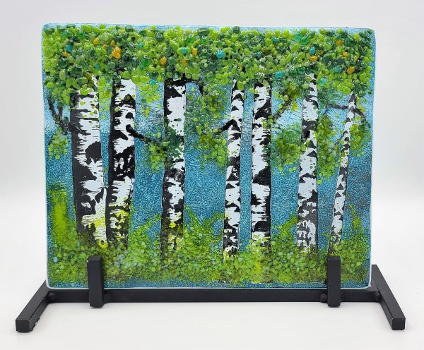 Birch Forest in Spring (Includes stand) by Kathy Kollenburn