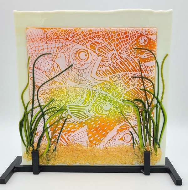 Fish Party with Stand by Kathy Kollenburn