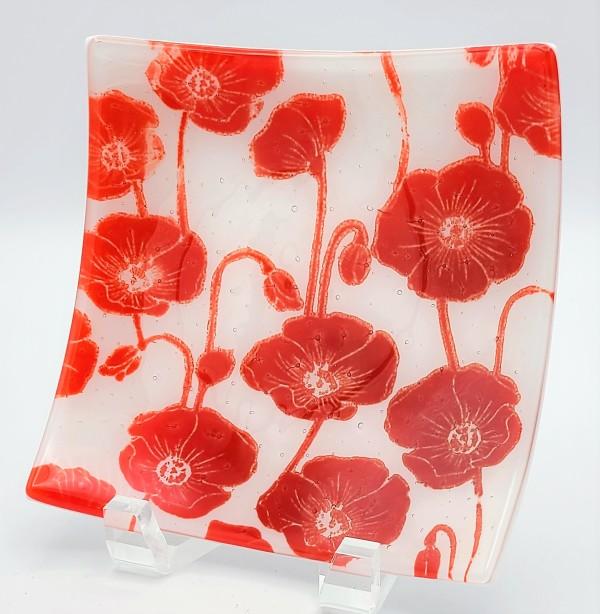 Poppy Plate-Large by Kathy Kollenburn