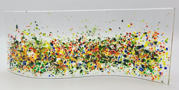 Garden Curve-Abstract Flower Field by Kathy Kollenburn