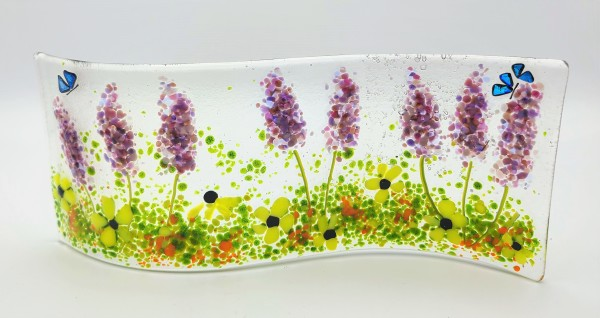 Garden Curve-Lavender with Daisies by Kathy Kollenburn