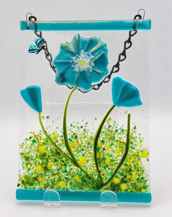 Garden Hanger-Blue Poppy by Kathy Kollenburn