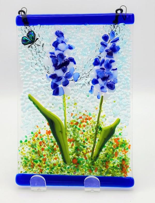 Garden Hanger-Delphiniums by Kathy Kollenburn