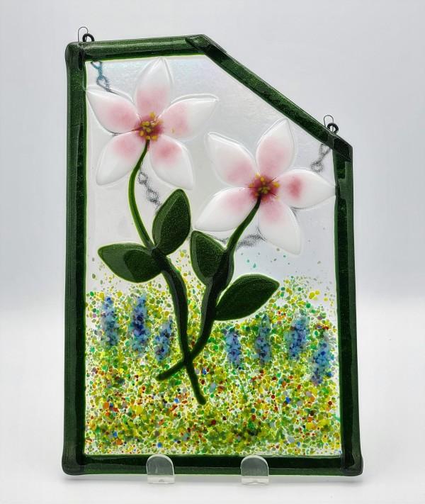 Garden Hanger-Lilies with Diagonal Corner by Kathy Kollenburn
