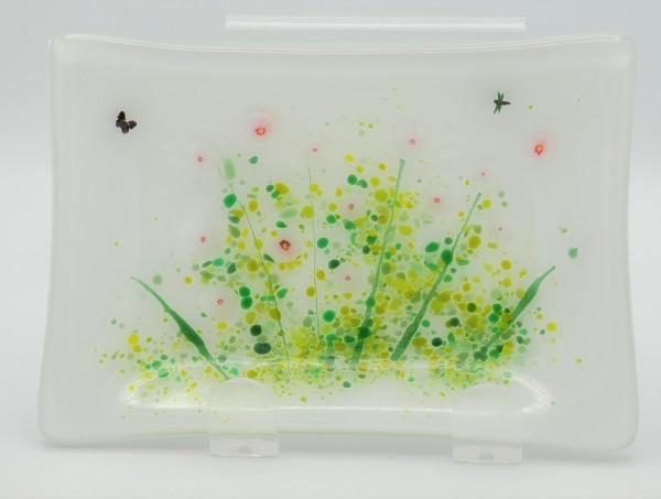 Soap Dish/Spoon Rest-Pink Poppy Field by Kathy Kollenburn