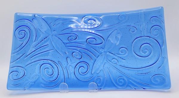 Platter-Dragonfly Impression on Sky Blue by Kathy Kollenburn