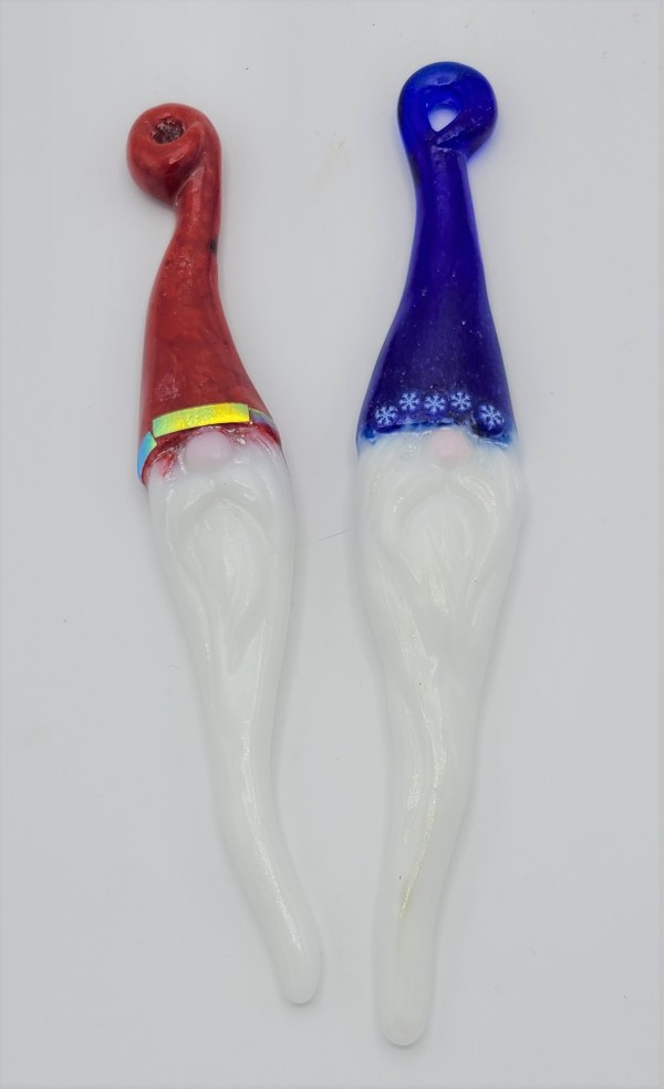 Santa Gnome Ornaments-Assorted Colors by Kathy Kollenburn