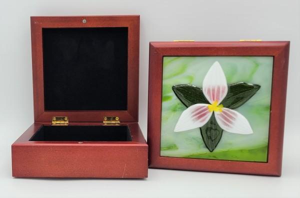 Trillium Treasure Box by Kathy Kollenburn