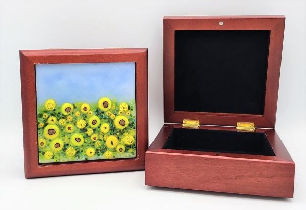 Sunflower Field Treasure Box by Kathy Kollenburn