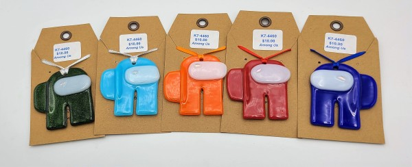 Among Us Spaceman Ornaments in Assorted Colors by Kathy Kollenburn