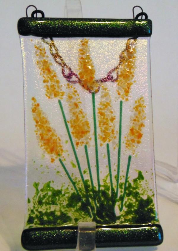 Garden Hanger-Orange & White Flowers by Kathy Kollenburn