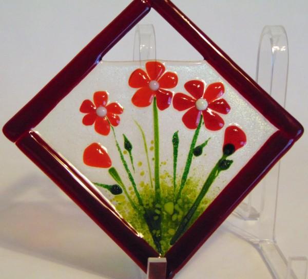 Garden Hanger-Diagonal-Red Daisies by Kathy Kollenburn
