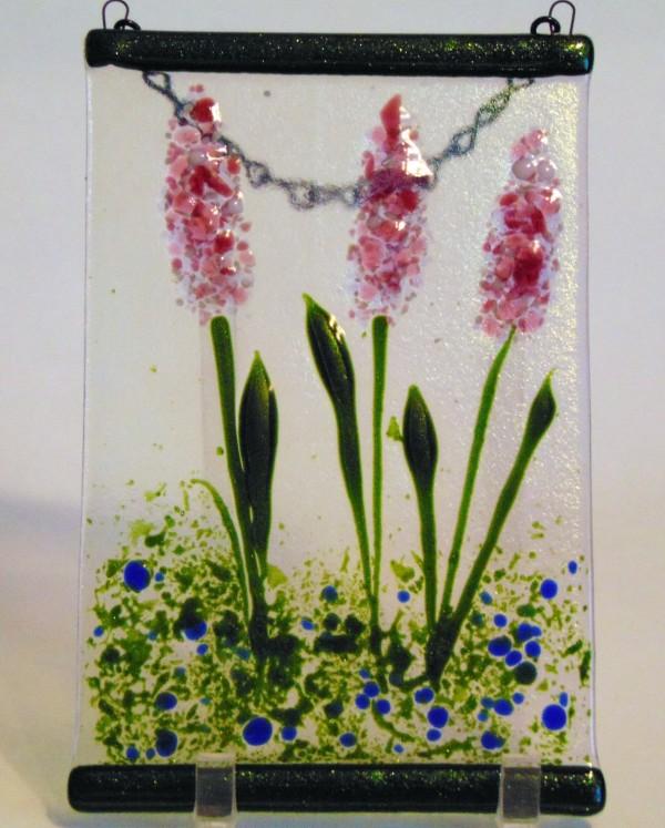 Garden Hanger-Pink Delphiniums by Kathy Kollenburn