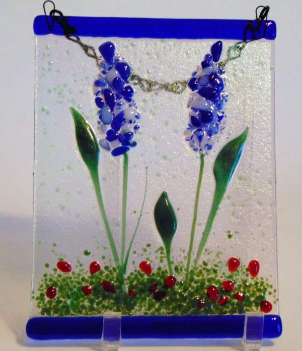 Garden Hanger-Blue Delphiniums by Kathy Kollenburn