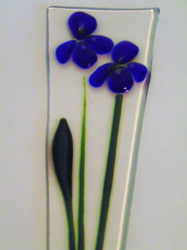 Plant Stake-Irises by Kathy Kollenburn