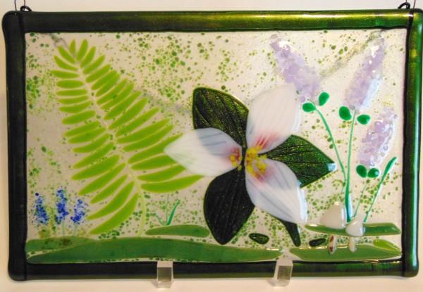 Garden Hanger-Trillium/Fern by Kathy Kollenburn